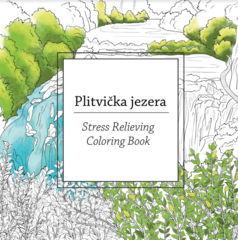 Plitvička jezera - Stress Relieving Coloring Book