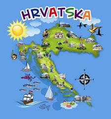 Hrvatska - Veseli zemljopis